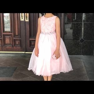 Other - Light pink dress with a rhinestones sash